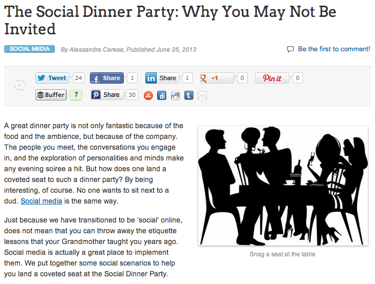 The Social Dinner Party 1