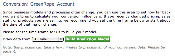 Build Prediction Model