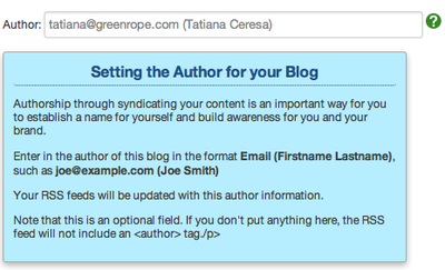 authorship on blog screenshot